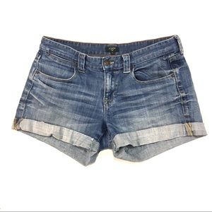 J. Crew Women's Cuffed Denim Shorts